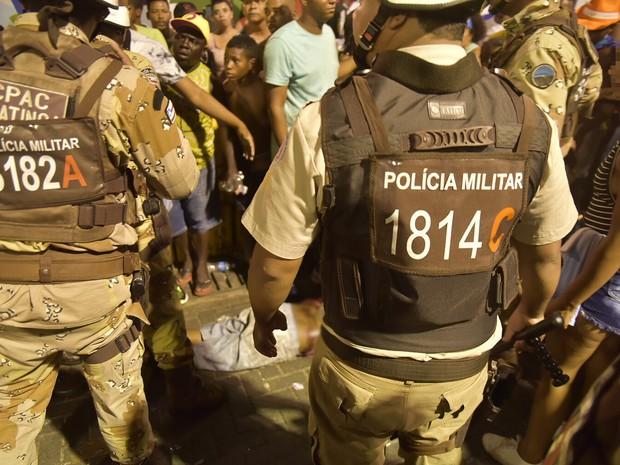 Baleado na Barra no carnaval de Salvador, Bahia (Foto: Elias Dantas/Ag. Haack)