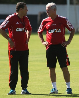 Luxemburgo, Antônio Mello, Ninho do Urubu, treino, Flamengo (Foto: Gilvan de Souza/ Fla Imagem)