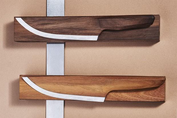 Faca alemã é feita de madeira (Foto: Divulgação)