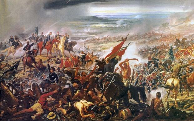 Detalhe do quadro Batalha do Avaí, óleo de Pedro Américo sobre um dos últimos episódios da guerra do Paraguai, ocorrido em 11 de dezembro de 1868 (Foto: Reprodução/Museu de Belas Artes)