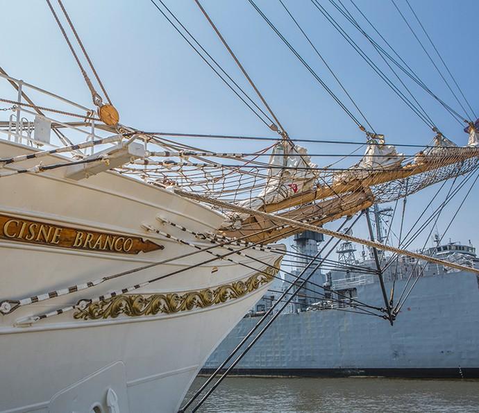 Navio veleiro Cisne Branco vai aparecer em 'Liberdade, Liberdade' (Foto: Fábio Rocha/Gshow)