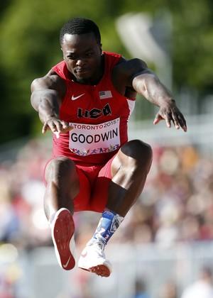 Pan de Toronto Marquise Goodwin Estados Unidos salto em distância jogador de futebol americano (Foto: Reuters)