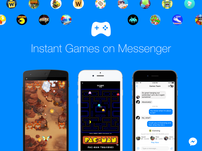 Facebook Messenger lança Instant Games mobile para plataforma web (Foto: Divulgação/Facebook)