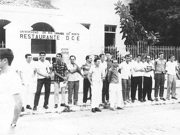 Antigo restaurante universitário, na Avenida Deodoro da Fonseca, já foi alvo de ações de militares (Foto: Divulgação/Comissão da Verdade da UFRN)