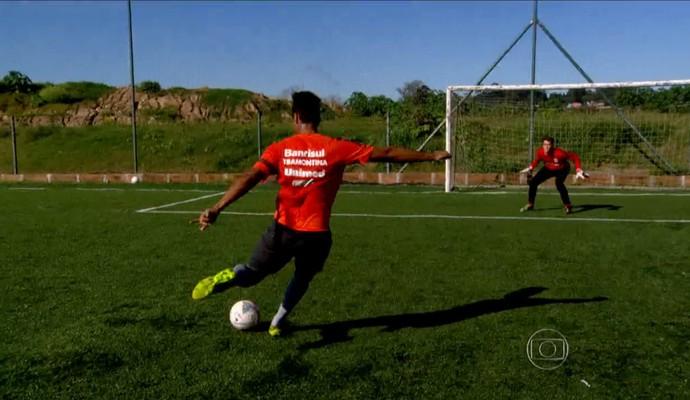 Internacional usa métodos para aperfeiçoar seus talentos (Foto: Reprodução TV Globo)
