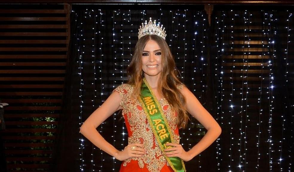 Kailane Amorim foi escolhida a nova Miss Acre  (Foto: Divulgação)