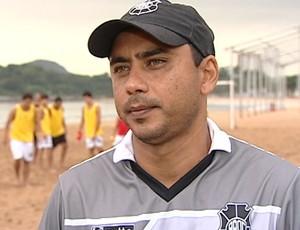 Erich Bomfim, técnico do Rio Branco-ES (Foto: Reprodução/TV Gazeta)