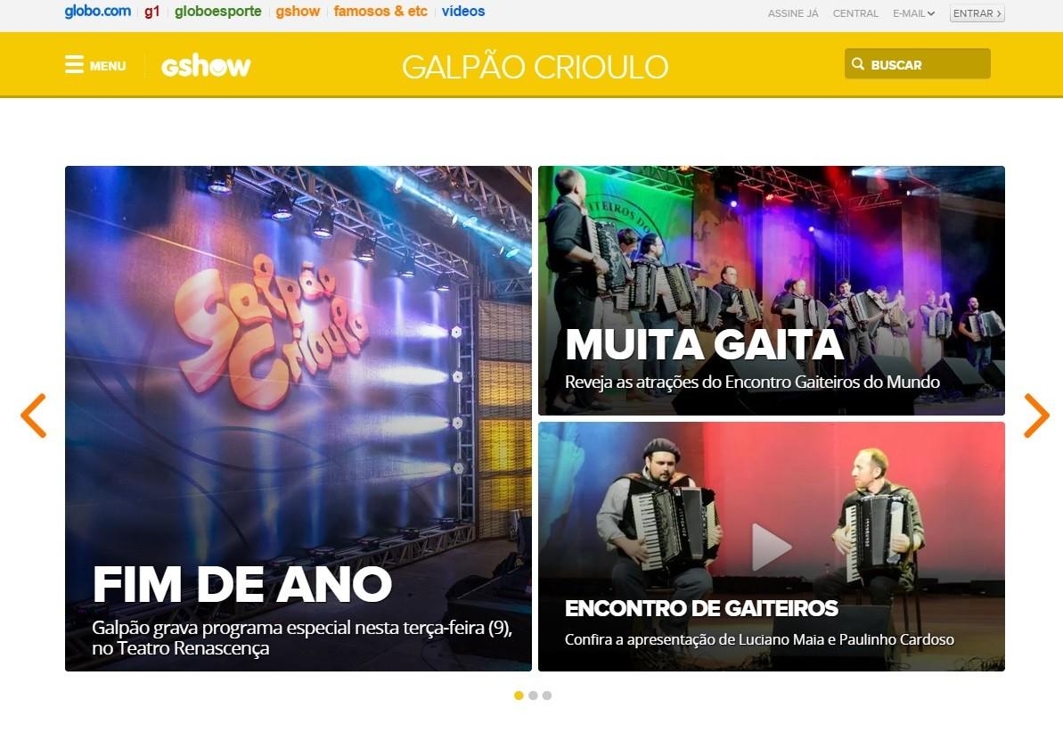 Galpão Crioulo lança novo site; confira as atrações (Reprodução/RBS TV)