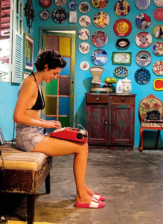 O restaurante Preta, destino do casal, é decorado com móveis e acessórios de diferentes estilos  (Foto:  )