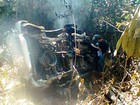 Motorista capota caminhonete e morre carbonizado em rodovia de MT