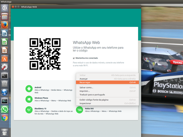 Você pode gerar novos códigos usando a opção Recarregar com o botão direito do mouse (Foto: Reprodução/Filipe Garrett)