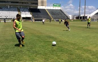 Geninho trabalha ABC com três zagueiros antes de encarar Bota-SP