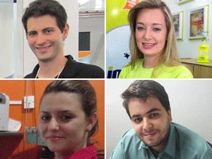 Jovens empreendedores (Foto: Montagem G1/Divulgação/Arquivo Pessoal)