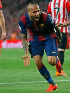 Messi Daniel Alves Barcelona Athletic Bilbao (Foto: Reuters)