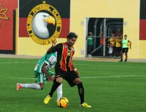 Índio Oliveira - atacante do Globo FC (Foto: Canindé Pereira/Divulgação)