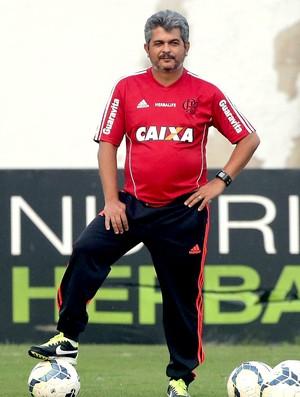 Ney Franco no treino do Flamengo (Foto: Cezar Loureiro / Agência O Globo)