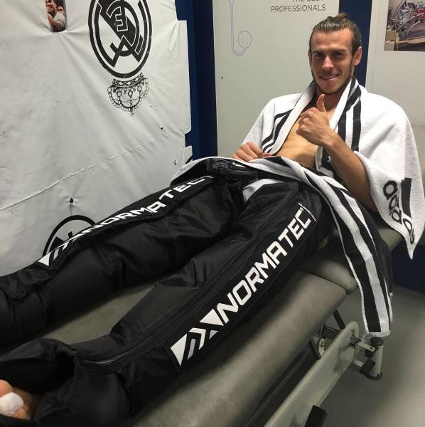 BLOG: Bale usa sistema de compressão para se recuperar após marcar em vitória do Real