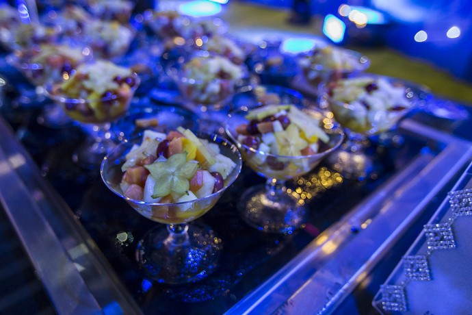 Pera, uva, maça...Essa salada de frutas hein! (Foto: Artur Meninea/Gshow)