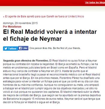 Blog AS Neymar (Foto: Reprodução / AS)