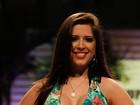 Ex-BBB Andressa desfila com decote e exibe novas próteses de silicone