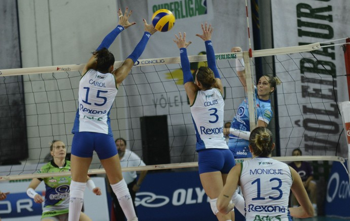 Bauru x Rio de Janeiro, Superliga feminina de vôlei (Foto: Marina Beppu / Concilig Vôlei Bauru)