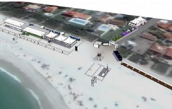Imagens mostram como será estrutura do Circuito Mundial em Saquarema
