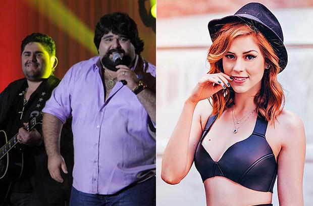 Sophia Abrão faz participação no show de Cesar Menotti e Fabiano (Foto: Divulgação / Brahma Valley)