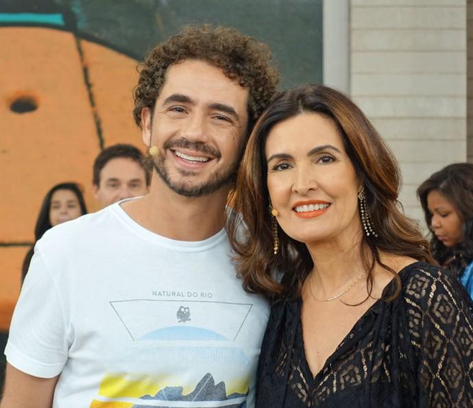 Fátima ao lado de Felipe Andreoli (Foto: Vinícius Cunha/Gshow)