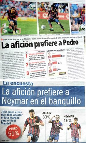 neymar enquete jornais barcelona 2 (Foto: Reprodução )