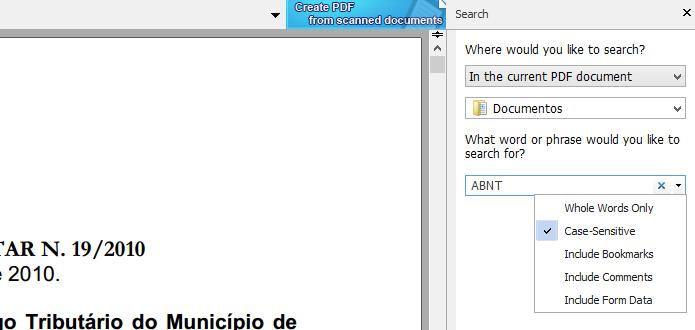 Configurando parâmetros de busca (Foto: Reprodução/Helito Bijora)
