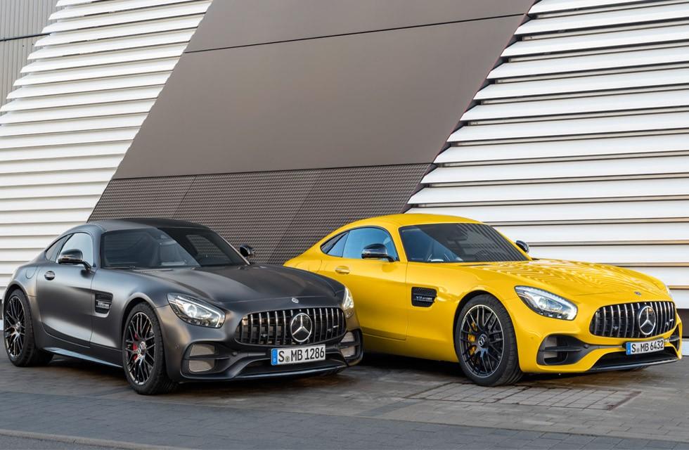 Mercedes AMG GT S e AMG GT C Edition 50 (Foto: Divulgação)