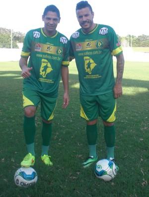 Juninho Cearense e Michel participam de projeto para desempregados, em Fortaleza  (Foto: Thaís Jorge)