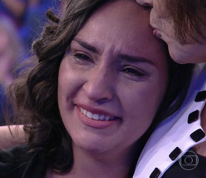 Mãe conhece quatro pessoas que receberam orgãos de sua filha (Foto: TV Globo)
