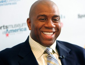 magic johnson compra los angeles dodgers baseball (Foto: Agência AP)