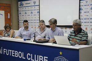 Reunião Conselho Avaí (Foto: Guilherme Lopes/Avaí FC)