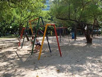 Parque da Jaqueira vai receber brinquedos inclusivos. (Foto: Vanessa Bahé/ G1)