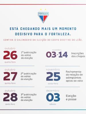 fortaleza, eleição, calendário (Foto: Divulgação/Fortaleza)