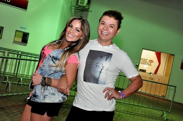 Anamara e David Brazil chegam para o show de Ivete Sangalo (Foto: Roberto Teixeira/ EGO)