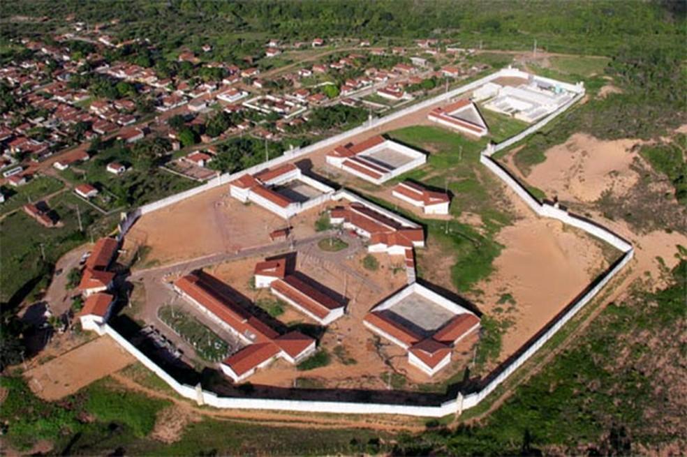 Penitenciária Estadual de Alcaçuz, maior unidade prisional do Rio Grande do Norte, antes das rebeliões; hoje, um muro divide o presídio no meio (Foto: Canindé Soares/G1)