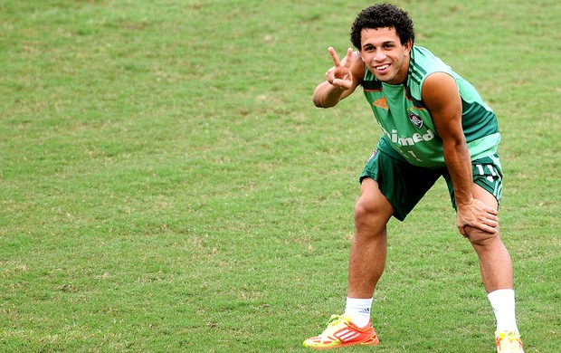 Wellington Nem no treino do Fluminense (Foto: Dhavid Normando / Photocamera)