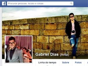 Gabriel Dias morreu atropelado na saída de festa (Foto: Reprodução/Facebook)