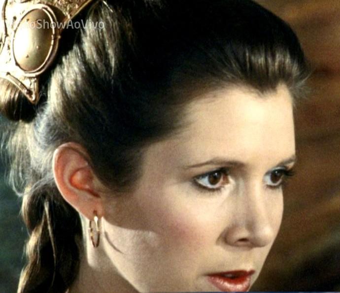 Carrie Fisher foi homenageada no Vídeo Show (Foto: TV Globo)