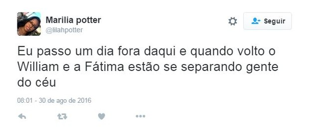 Separação de William Bonner e Fátima Bernardes causa surpresa e comoção nos fãs  (Foto: Reprodução / Twitter)
