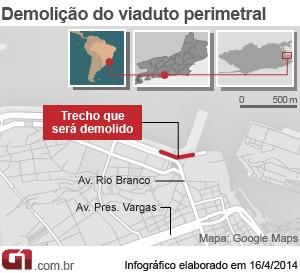 Arte Elevado Perimetral (Foto: editoria de Arte / G1)