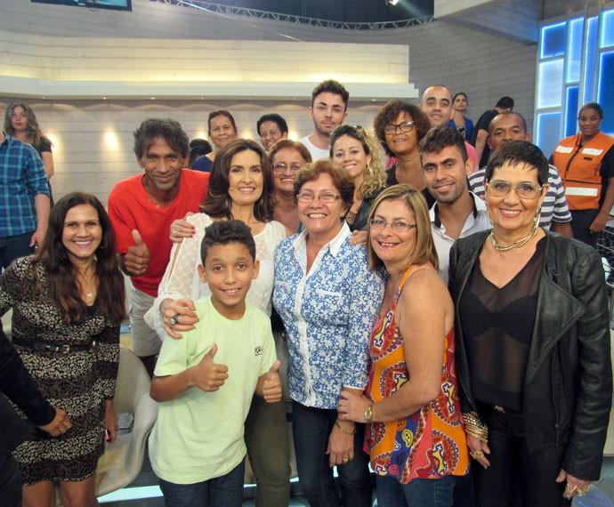 Foto da plateia com a Fátima (Foto: Carolina Morgado/Gshow)