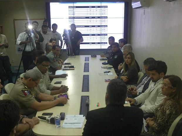 Secretário de Segurança Pública apresenta dados da Defesa Social de Alagoas (Foto: Waldson Costa/ G1)