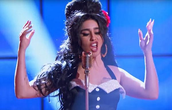 A cantora Lauren Jauregui, uma das vocalistas do grupo Fifth Harmony, em seu cover de Amy Winhouse (Foto: YouTube)
