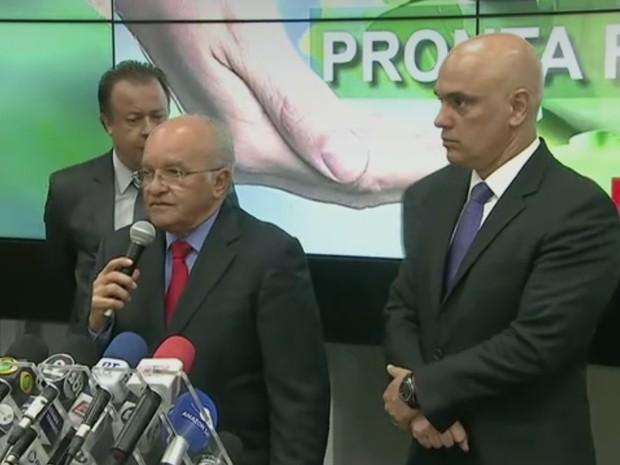 governador, amazonas, jose melo, alexandre de moraes, ministro da justica (Foto: Reprodução/Rede Amazônica)