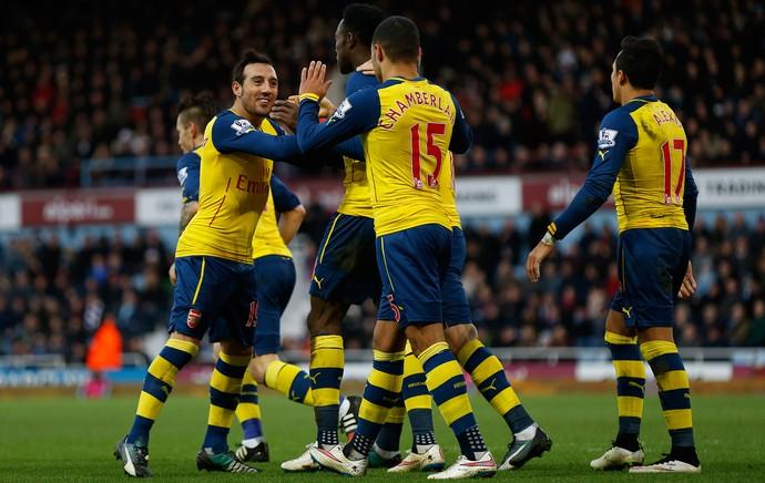 West ham x Arsenal - Comemoração Welbeck  (Foto: Getty)
