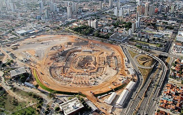 Obras arena Dunas, Natal (Foto: Divulga&#231;&#227;o / Site oficial da Fifa)